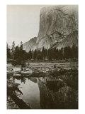 Mirror View, El Capitan, Yosemite Park, California, 1866 Giclee Print by Carleton Watkins