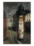 A Poster Column, Paris Giclee Print by Yuzo Saeki