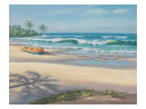 Sandpiper March I Giclee Print by Sung Kim