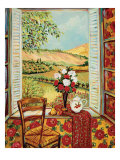 Cabbage Rose Wallpaper Affiches par Suzanne Etienne
