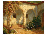 Monastery Arches Premium Giclee Print by Roger Williams