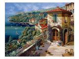 Il Villaggio Sulla Costa Posters par Guido Borelli