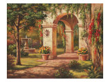 Arch Courtyard I Prints by Sung Kim