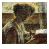 Portrait of a Young Woman Giclee Print by Umberto Boccioni