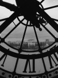 Clock Tower and Scenery of a Town, Paris, France Photographic Print by Tomaru Eiichi
