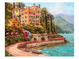 Lake Como Luxury Giclee Print by Erin Dertner