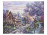 Bear Creek Lodge Giclee Print by Carl Valente