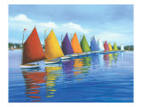 Catamarans arc-en-ciel Reproduction proc&#233;d&#233; gicl&#233;e par Sally Caldwell-Fisher