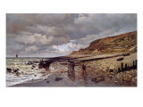 The Pointe De La Heve at Low Tide Giclee Print by Claude Monet
