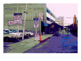 Public Parking Down Town, Los Angeles, California Giclee Print by Steve Ash