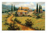 Italian Cypress Premium Giclee Print by Roger Williams