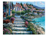 Steps of Saint Tropez Giclee Print by Howard Behrens