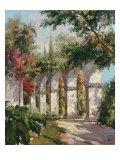 Garten der Missionsstation Giclée-Premiumdruck von Alberto Pasini