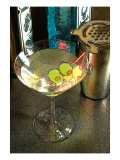 Martini with Two Olives on the Black Table Giclee Print by Steve Ash
