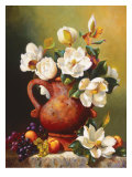Magnolias in Terra Cotta Kunstdrucke von Fran Di Giacomo