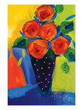 Spring Blooms In Blue Vase I Prints by Natasha Barnes