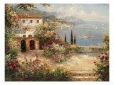 Mediterranean Villa Premium Giclee Print by Peter Bell