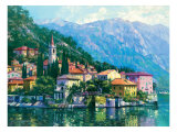 Reflets du lac Como Reproduction proc&#233;d&#233; gicl&#233;e par Howard Behrens