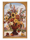 Autumn Vase Poster by Suzanne Etienne