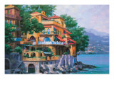 Portofino Villa Giclee Print by Howard Behrens