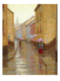 Late Evening Drizzle Premium Giclee Print by Roger Williams