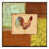 Patchwork Rooster III Poster by Jennifer Sosik
