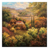 Mediterranean Valley Farm Prints by  Hulsey
