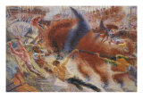 The City Rises Giclee Print by Umberto Boccioni
