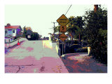 Narrow Bridge, Venice Beach, California Giclee Print by Steve Ash