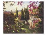 Mystic Garden II Giclee-tryk i høj kvalitet af Gabriela