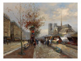 Parisian Outdoor Market Giclee Print by Hovely
