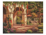 Arch Courtyard II Giclee Print by Sung Kim