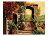 Sulle Scale Verso Giclee Print by Guido Borelli