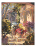 Flowered Courtyard Posters af Betty Carr