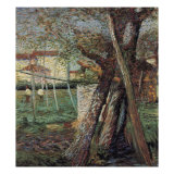 Countryside with Trees Giclee Print by Umberto Boccioni