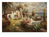 Villa by the Sea Prints by  Horwich