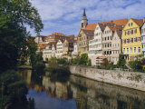 Buildings Overlooking the Neckar River at Tubingen, Baden Wurttemberg, Germany, Europe Photographic Print by Nigel Blythe