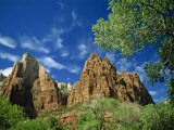 Two of the Three Rock Peaks known as the Three Patriarchs, in the Zion National Park, Utah, USA Photographic Print by Nigel Callow