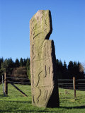 Maiden Stone with Pictish Symbols, Near Chapel of Garioch, Grampian Region, Scotland, UK Photographic Print by Richard Ashworth