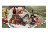 Tuscan Picnic Art by Janet Kruskamp