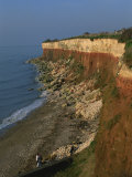 Rockfalls from Red and White Chalk Cliff, Hunstanton, Norfolk, England, United Kingdom, Europe Photographic Print by Charcrit Boonsom