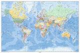 Carte du monde en allemand Photographie