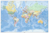 Mapa-múndi, alemão Fotografia