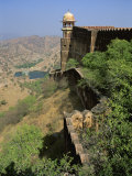 View from Walls of Jaigarh Fort, Amber, Near Jaipur, Rajasthan State, India Photographic Print by Richard Ashworth