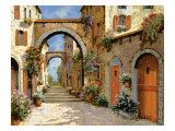 Le Porte Rosse Sulla Strada Lmina gicle por Guido Borelli