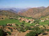 Village and Fields in the Hills East of Tiznit, Anti Atlas Region of Morocco Photographic Print by Richard Ashworth