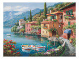 Villagio Dal Lago Giclee Print by Sung Kim