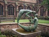 Cloister Garden, Chester Cathedral, Cheshire, England, United Kingdom, Europe Photographic Print by Nelly Boyd