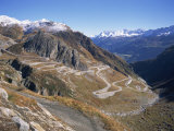 St. Gotthard Pass, with First Autumn Snow on the Mountains, in Ticino, Switzerland Photographic Print by Richard Ashworth