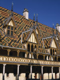 Verandahs and Roof of the Hospices De Beaune on the Cote D'Or, Bourgogne, France, Europe Photographic Print by Charles Bowman